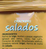 Crackers Salados - Ingrédients - es