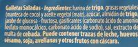 Galletas Saladas - Ingredients