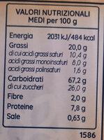 Ottocentk - Informations nutritionnelles - it