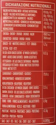 """Fusilli """"Vecchia Maniera"""" - Nutrition facts"""