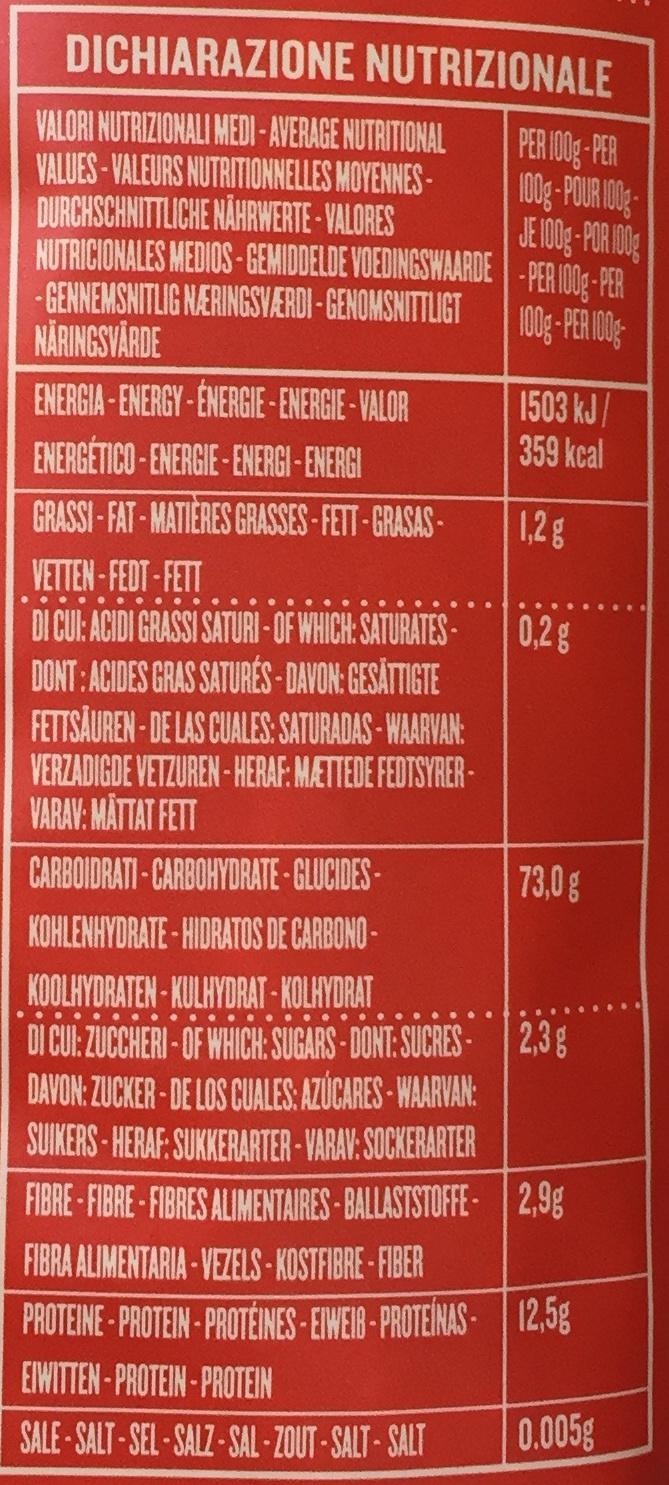 """Fusilli """"Vecchia Maniera"""" - Nutrition facts - fr"""