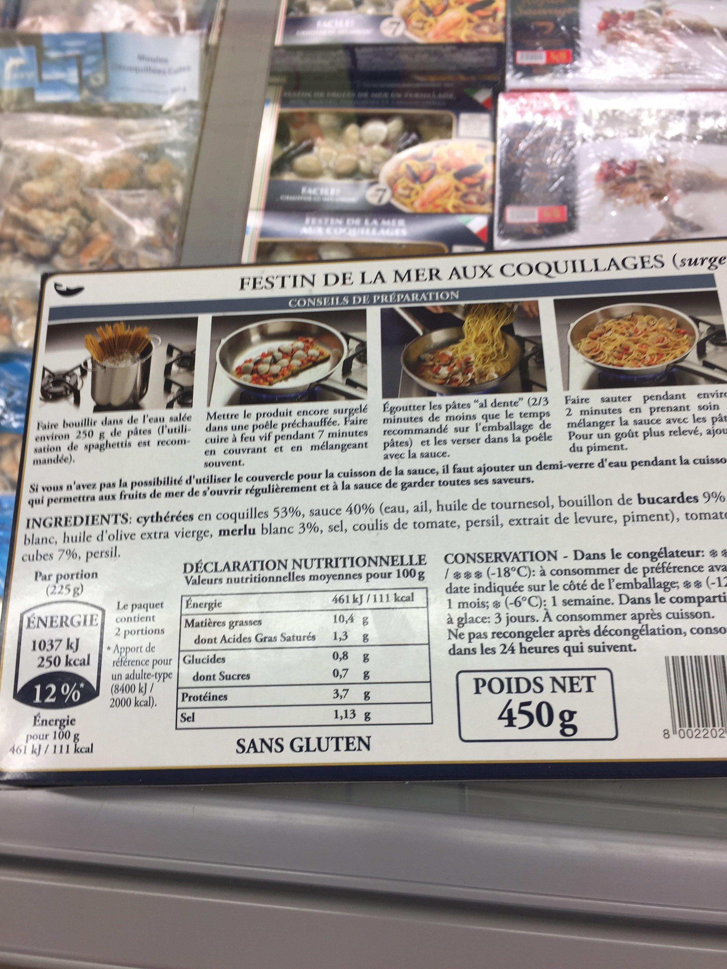 Festin de la mer aux coquillages - Ingrédients