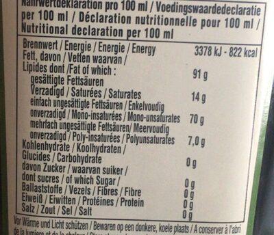 Natives Olivenöl Extra , Classico - Voedingswaarden - en