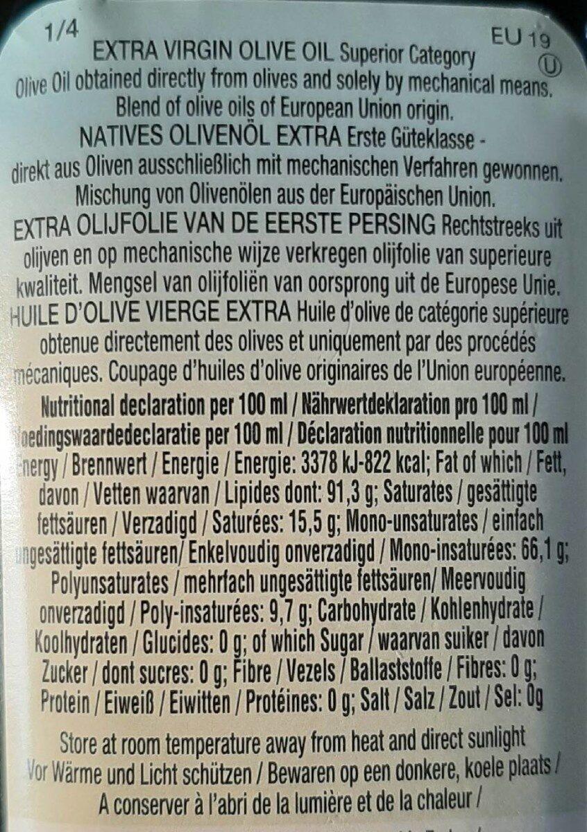 Huile d'olive - Voedingswaarden - fr