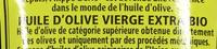 Huile d'olive vierge extra bio - Ingrediënten - fr