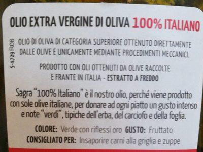 Olio extra vergine di oliva - Ingrediënten
