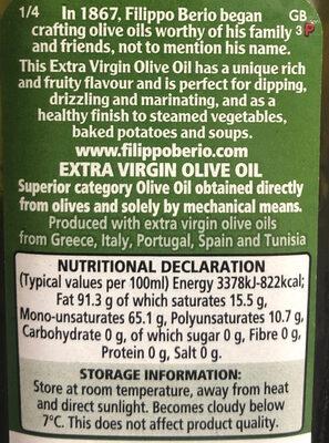 Extra virgin olive oil - Ingrédients - en