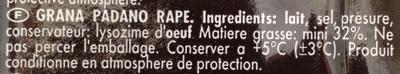 Fromage râpé - Ingredients - fr