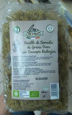 Fusili di semola di grano duro con canapa biologica - Product