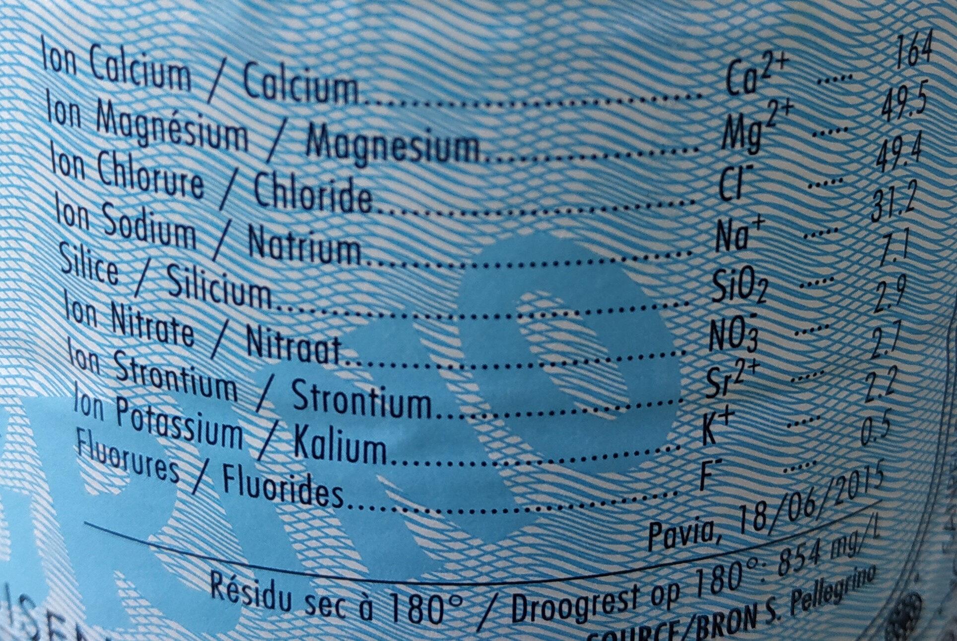 san Pellegrino - Ingredients - fr