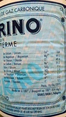 San Péllégrino, Eau minérale naturelle avec adjonction de gaz carbonique - Nutrition facts