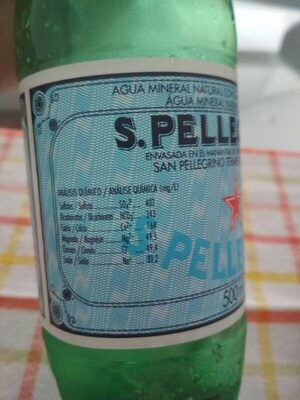 San Pellegrino Mineral Water - Información nutricional