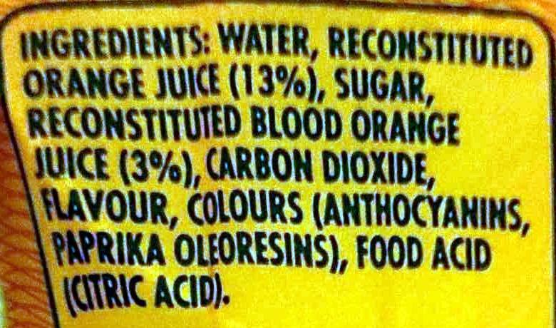 Aranciata Rossa Sparking Blood Orange - Ingrediënten - en
