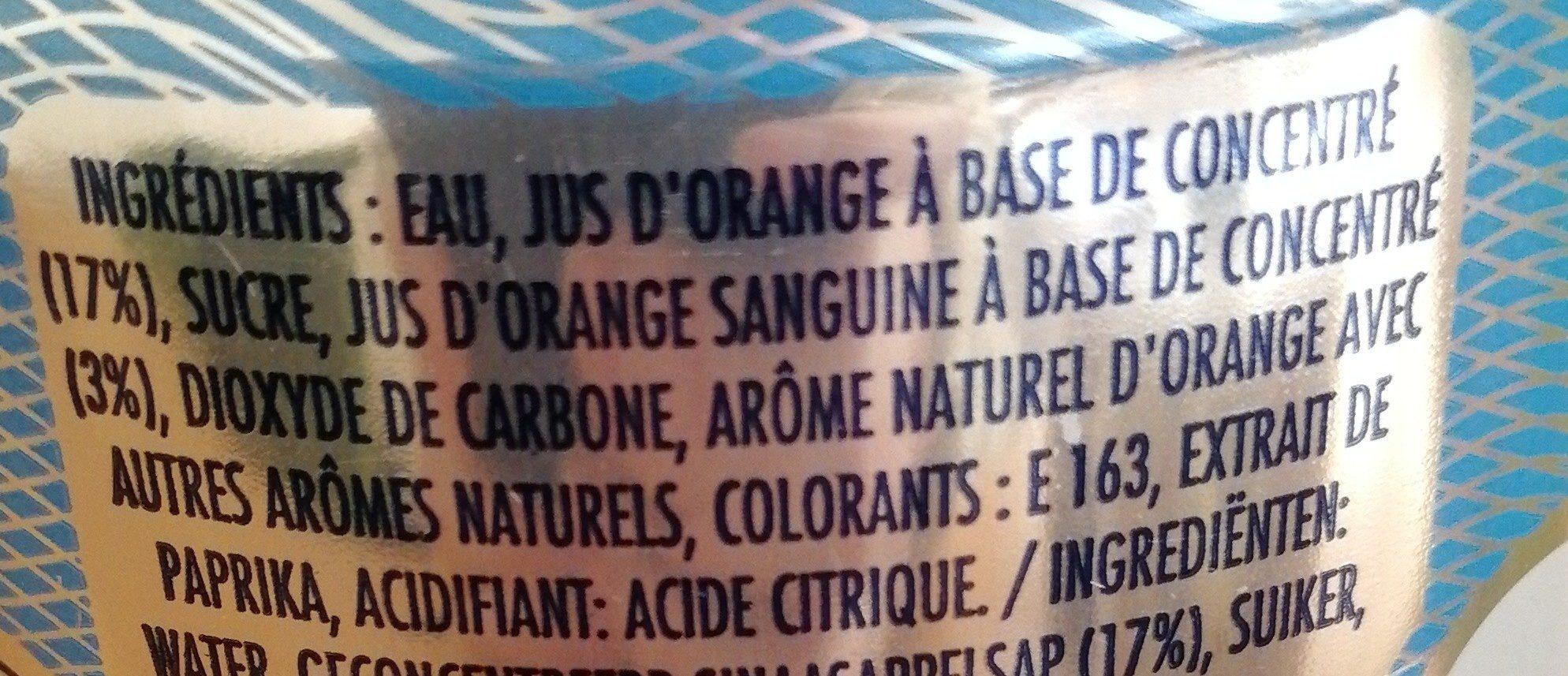 Aranciata Rossa - Ingrediënten - fr