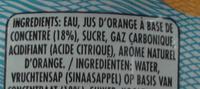 Boisson aromatisée pétillant orange - Ingredients
