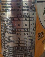 Boisson aromatisée pétillant orange - Nutrition facts