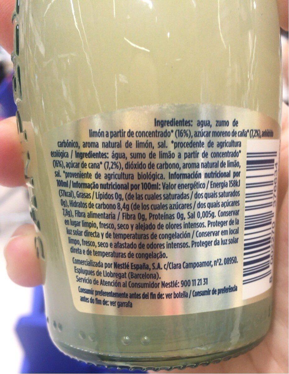 Limonata - Informations nutritionnelles - es