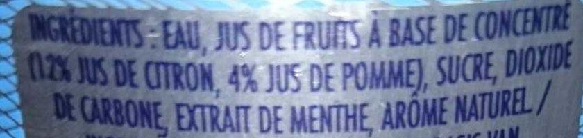 Limone E Menta - Ingrédients