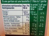 Aranciata rossa - Voedingswaarden
