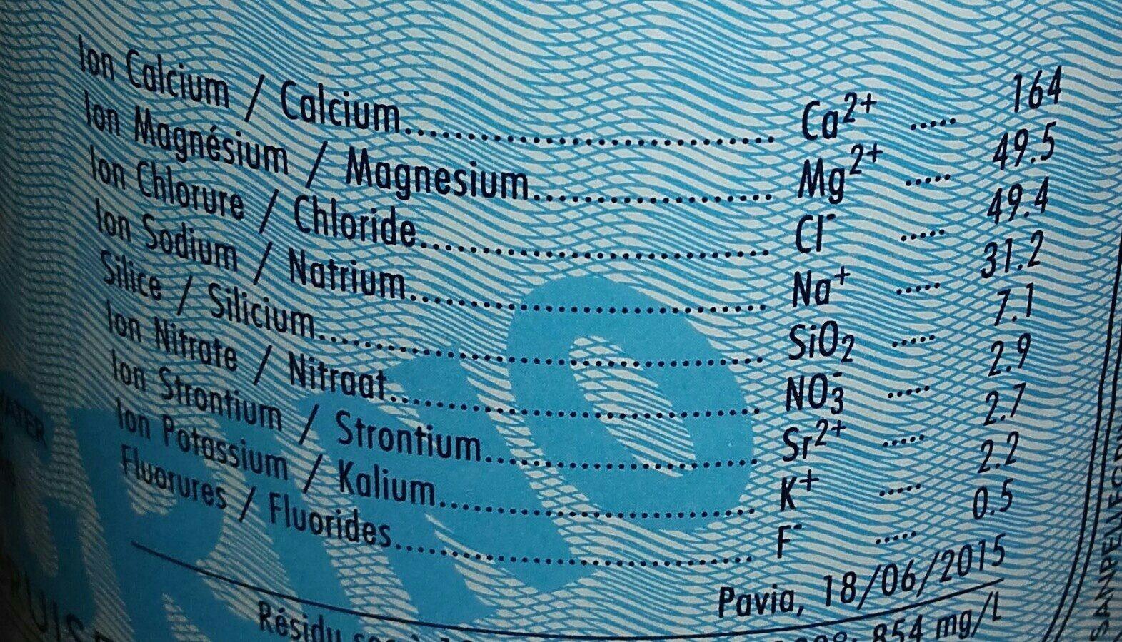 Eau gazeuse - Ingrediënten - fr