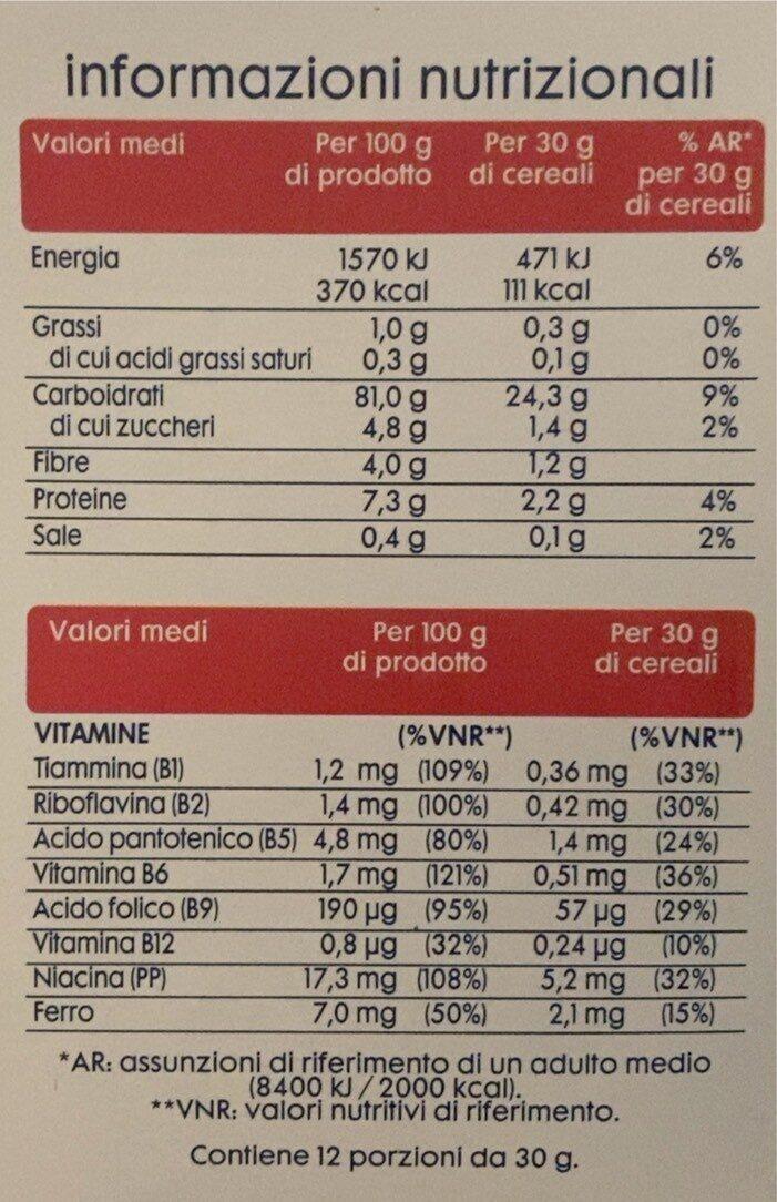 Corn flakes senza glutine - Nutrition facts - it