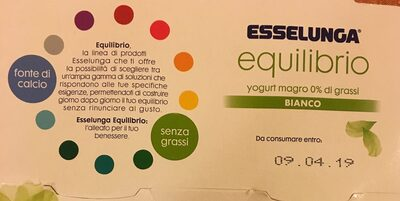 equilibrio yogurt magro 0% di grassi bianco - Prodotto - it