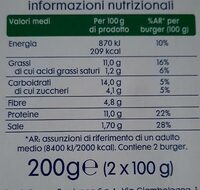 Burger vegetali Soia e spinaci - Voedingswaarden - it