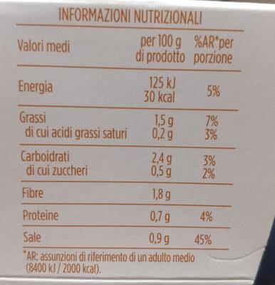 passato di verdure - Informations nutritionnelles - it