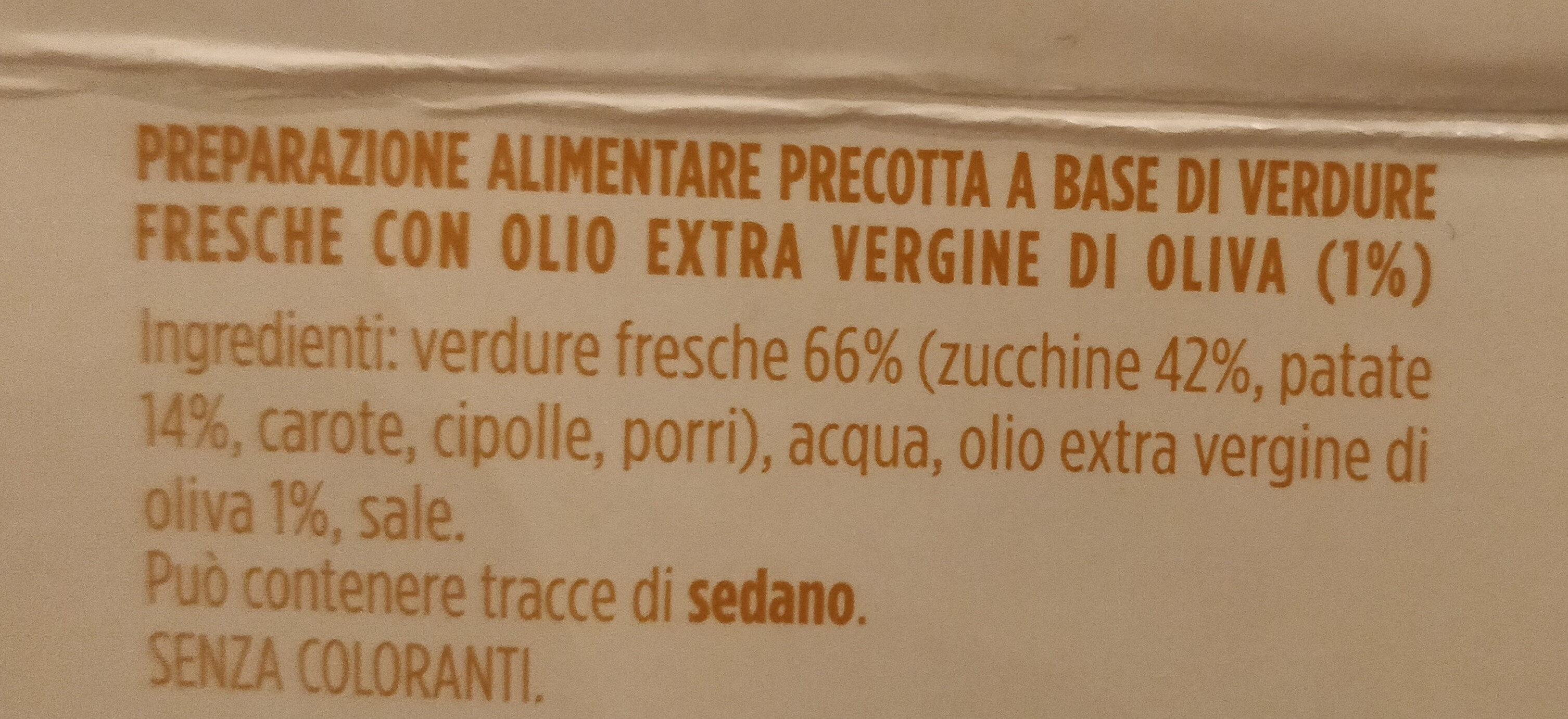 Crema di verdure con zucchine e patate - Ingrédients - it