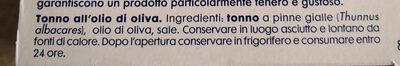 tonno all'olio di oliva - Ingredients