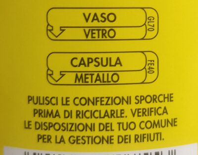 sugo al pomodoro e basilico - Recycling instructions and/or packaging information - it