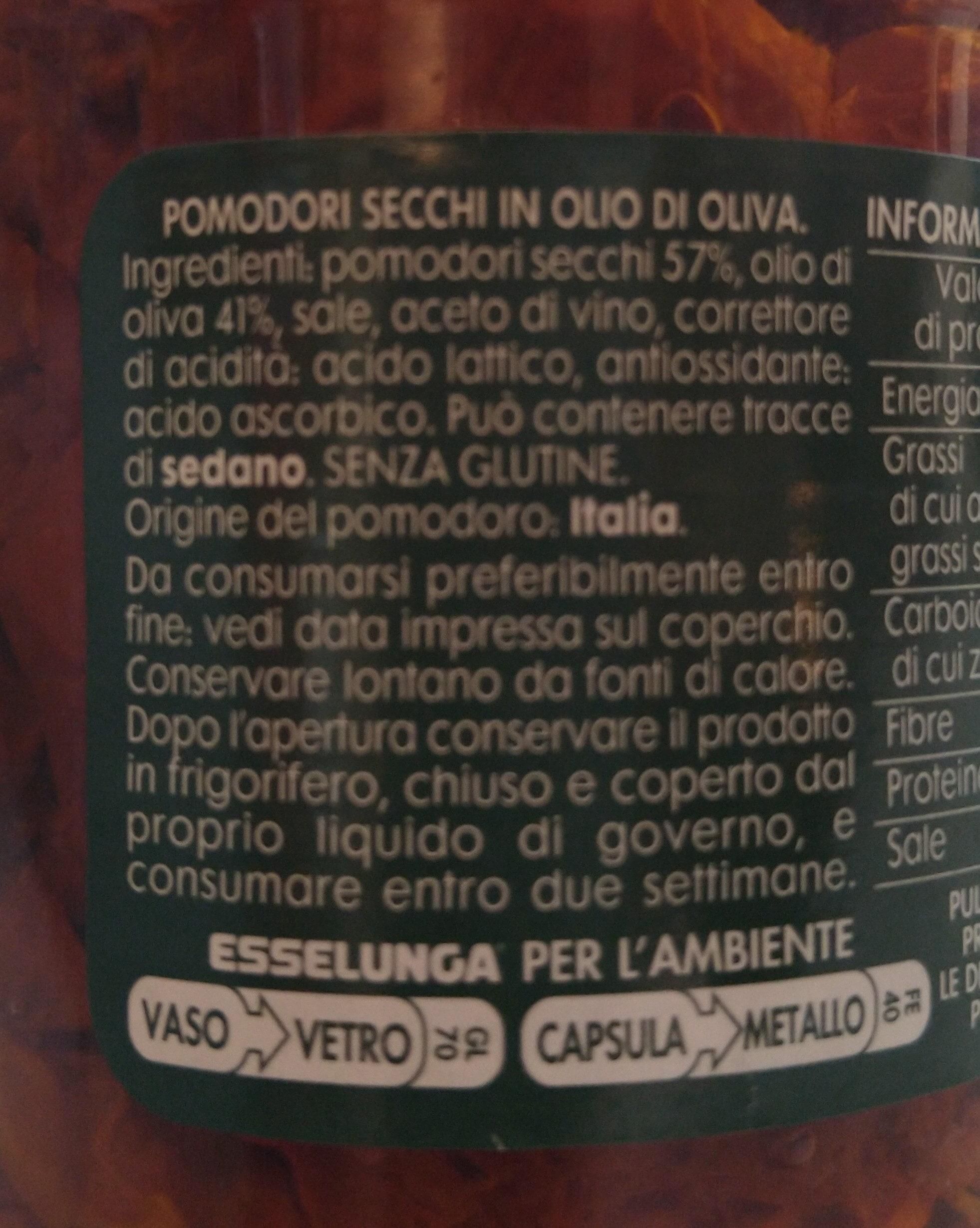Pomodori Secchi - Ingredients - it