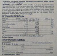 Pizza capricciosa - Informations nutritionnelles - it