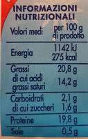 Mozzarella per pizza Esselunga - Nutrition facts