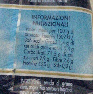 Pastina semi di mela - Informations nutritionnelles - it