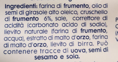 equilibrio crackers integrali - Ingredients
