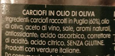 carciofini in olio di oliva - Ingredients - it