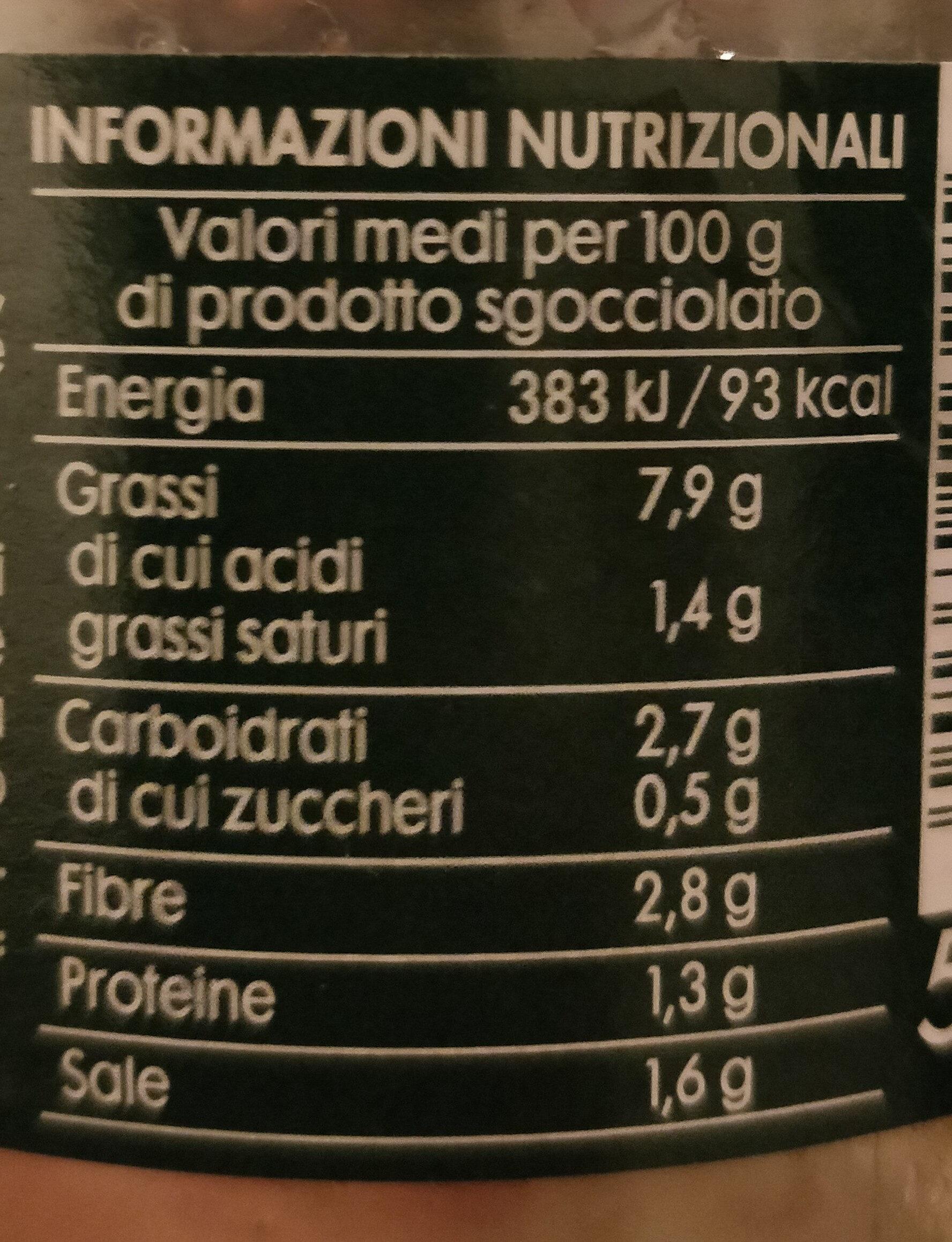carciofini in olio di oliva - Nutrition facts - it