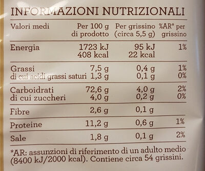 Friabili esselunga - Nutrition facts