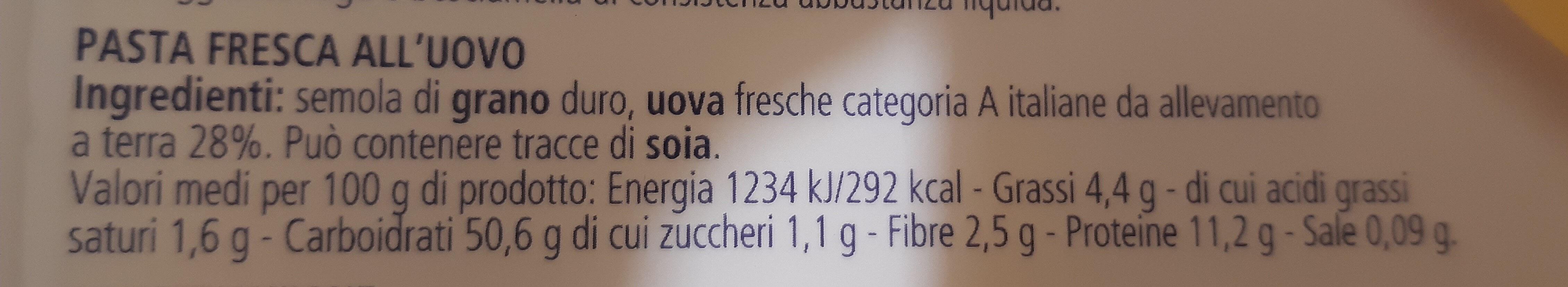 Sfoglia classica - Ingredients - it