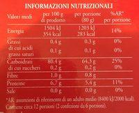 Riso basmati - Informations nutritionnelles - fr