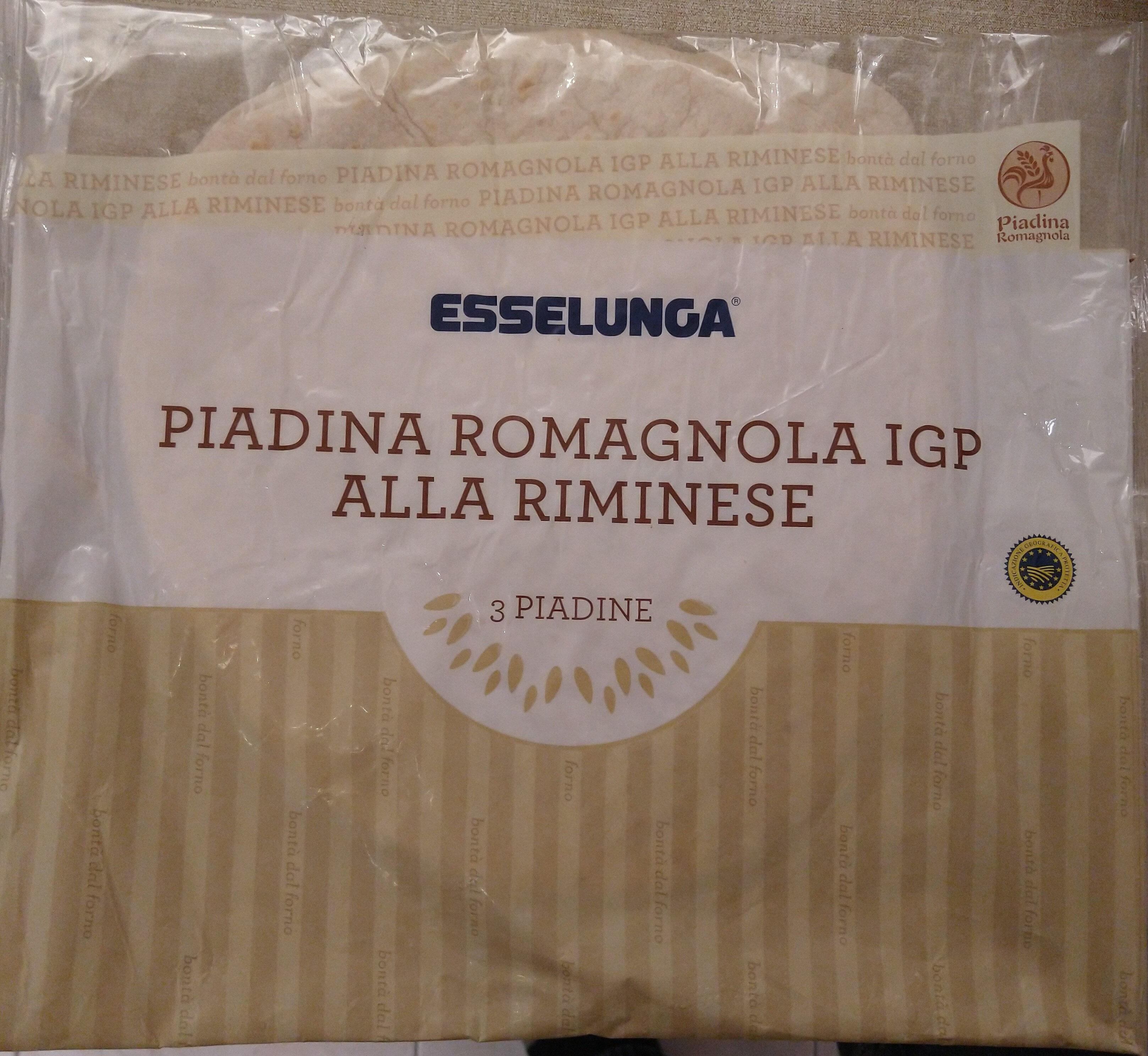 Piadina romagnola IGP alla riminese Esselunga - Product