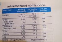 piadina di grano kamut - Nutrition facts