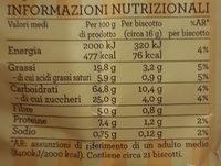 frollini con grano saraceno - Nutrition facts