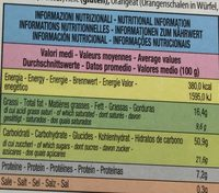Panettone Classico - Nutrition facts - fr