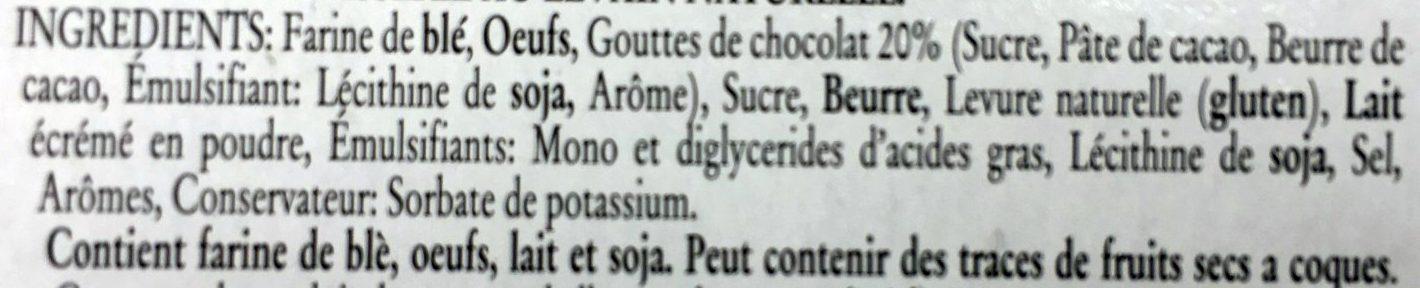 Panettone aux Pépites de Chocolat Noir - Ingrédients