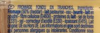 Tranchettes Goût Cheddar - Ingrediënten