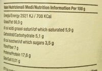 Crema di nocciole tostate bio - Valori nutrizionali - it