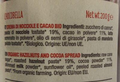 Chocobella - Ingredients