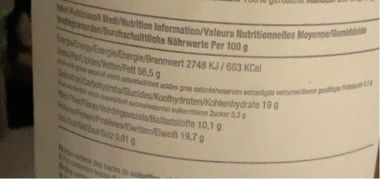 Amandino Purée Amandes Grillées bio - Nutrition facts - fr